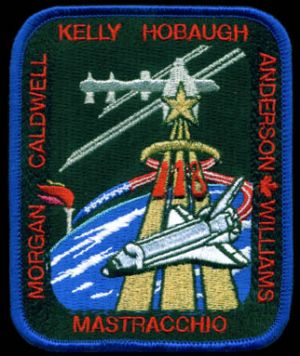 NASA STS-118 Endeavour Mission Patch (Crew Change) Anderson variant